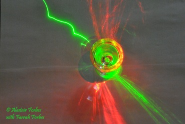 Lasers with help from my daughter, Farrah.
