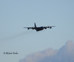 Hercules flying over the port today