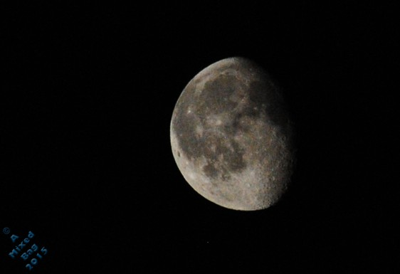 Waning moon. July 5th 2015