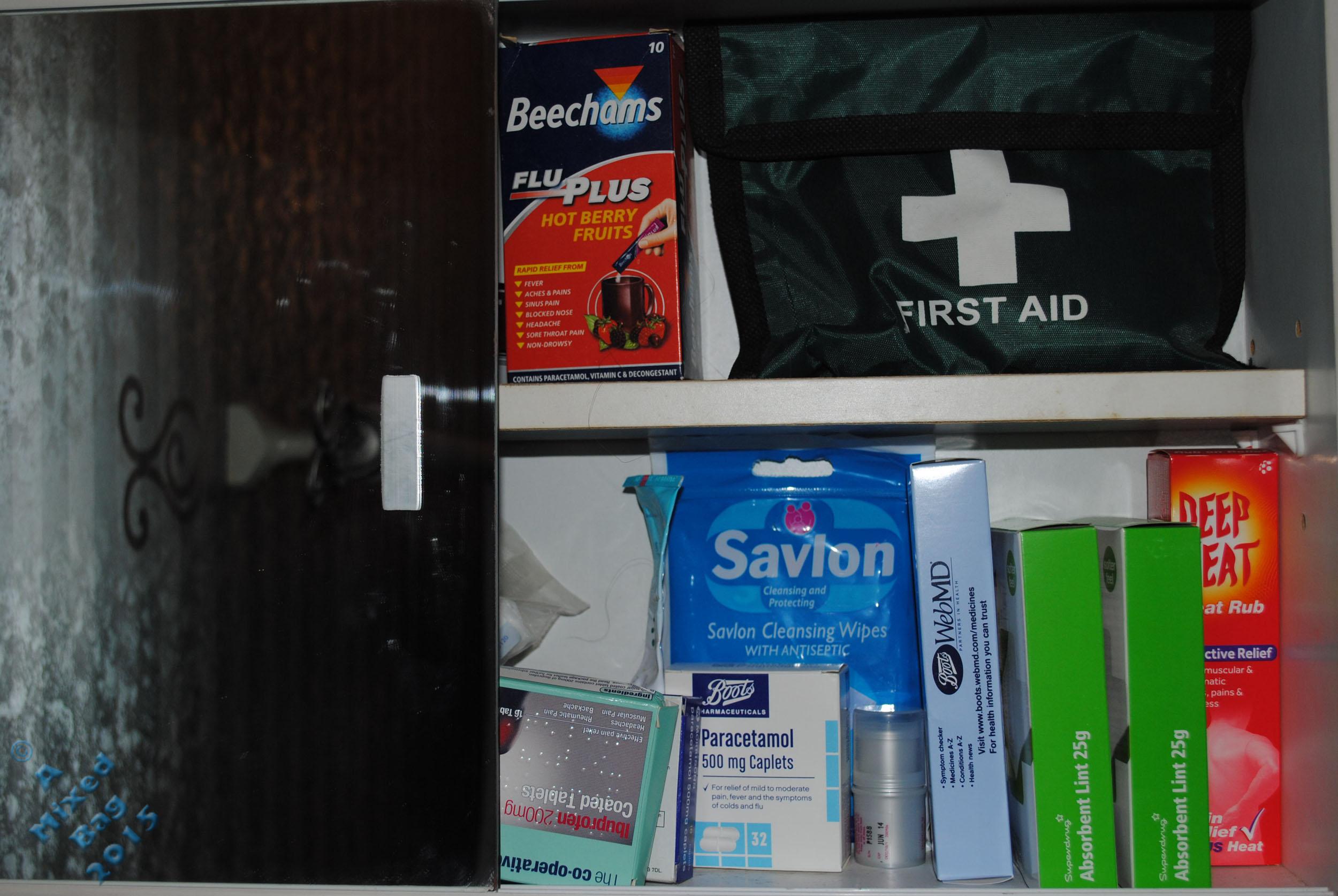August 05 2015 Inside of Medicine Cabinet
